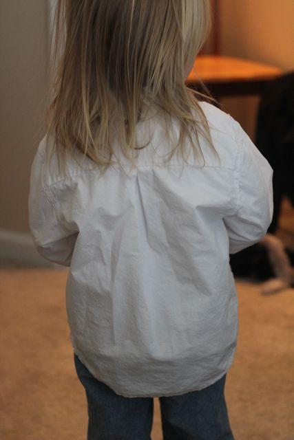 Refashioned kids' shirt