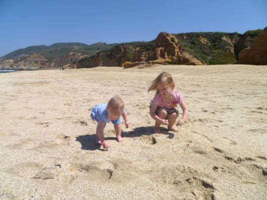 half moon bay, california, beach, family adventure